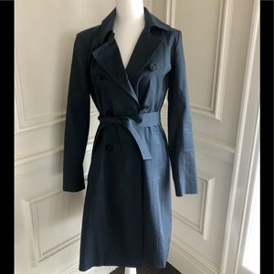 Theory cotton trench coat navy size S